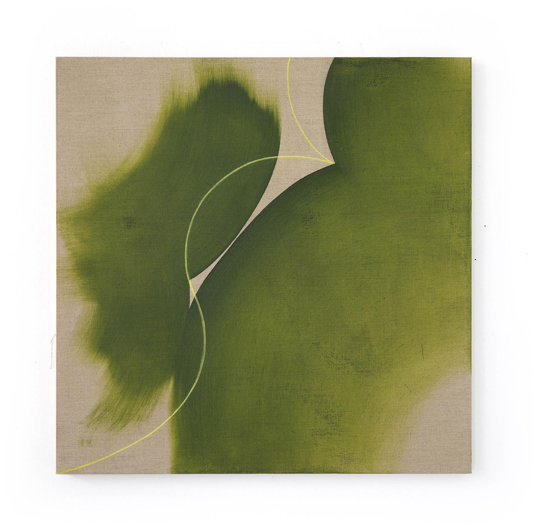 No title, oil,pastel on canvas, 100x100cm, 2019