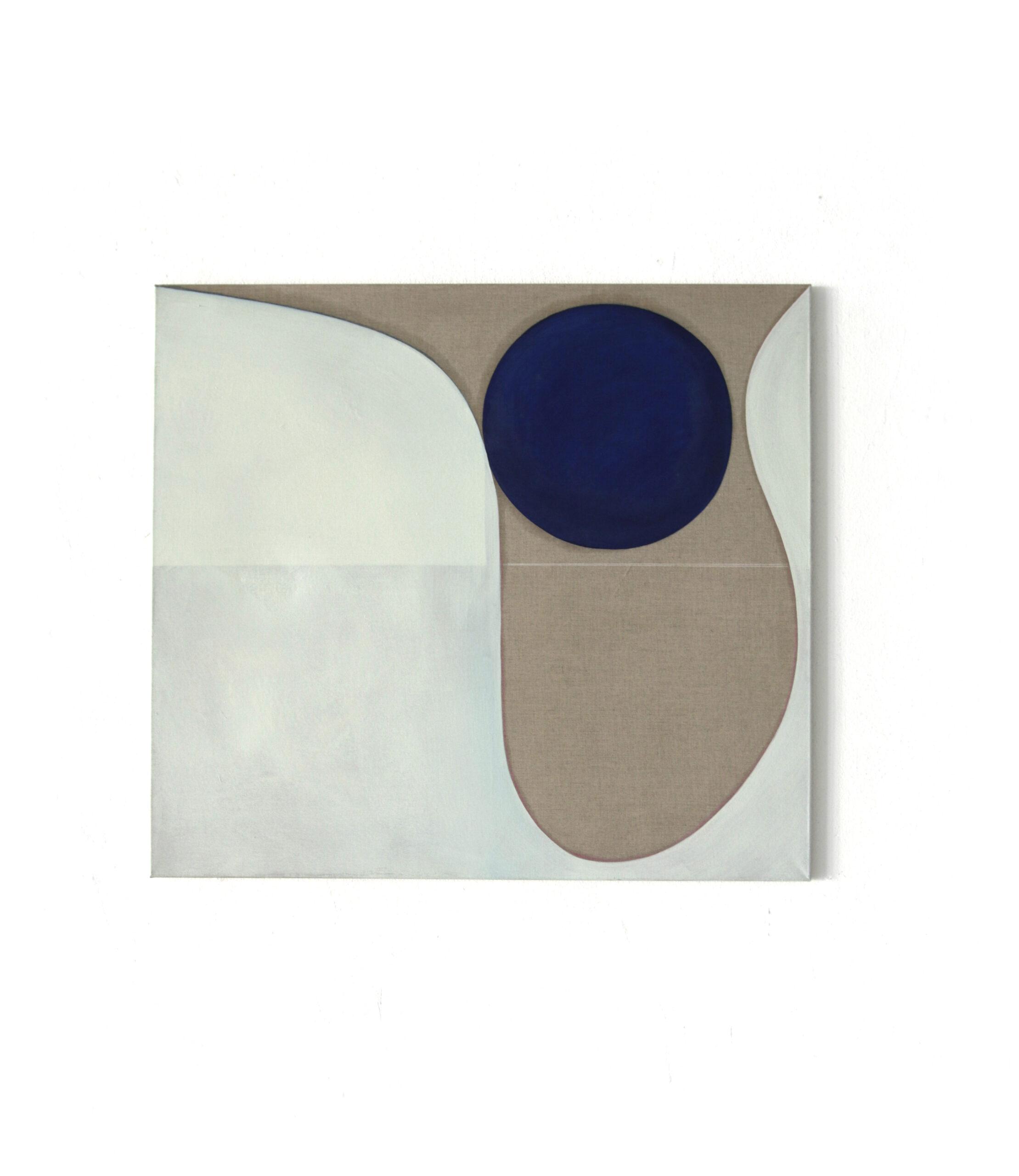 No_title, oil pastel on canvas, 90x100cm, 2019