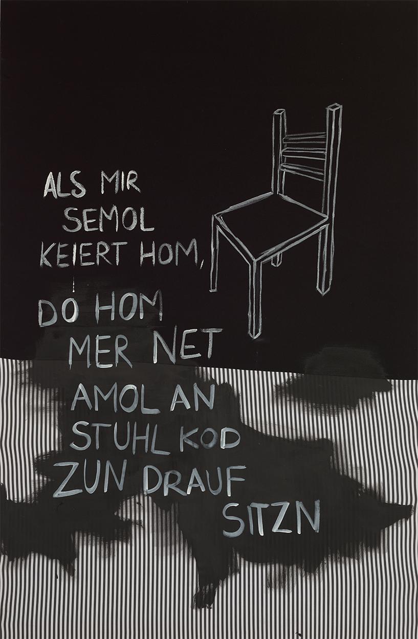 Eva Nüßlein, Künsfeld 1955, 180x120 cm Acryl auf Stoff 2017