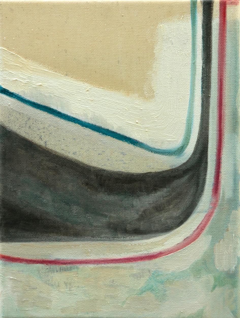 Tomoe Hikita, o.T., 2017, 24x18 cm, Öl auf Leinwand
