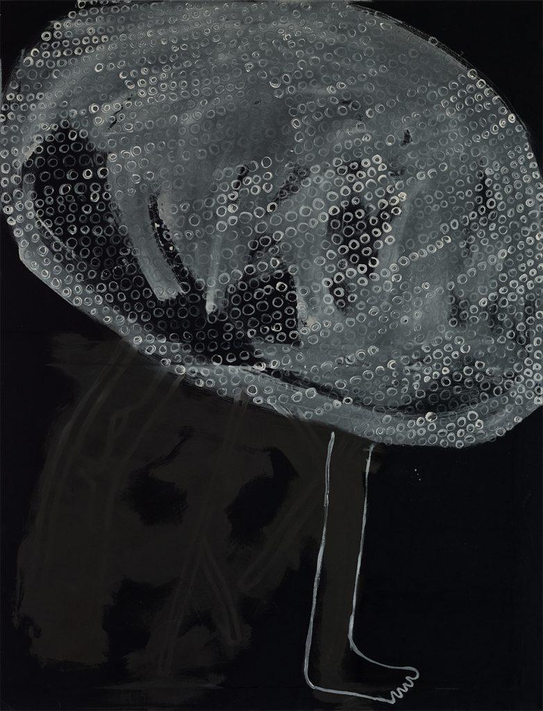 Eva Nüßlein, WFO, well known flying object, 120x90 cm Acryl auf Stoff 2017