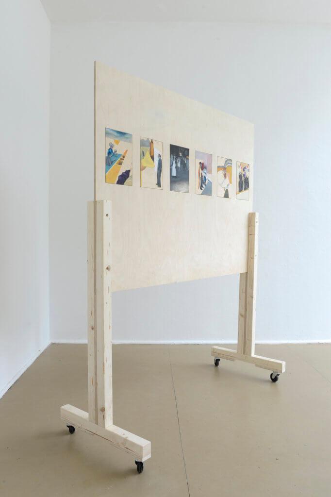 usanzes, 2017, 200x180cmx50cm, oil on wood