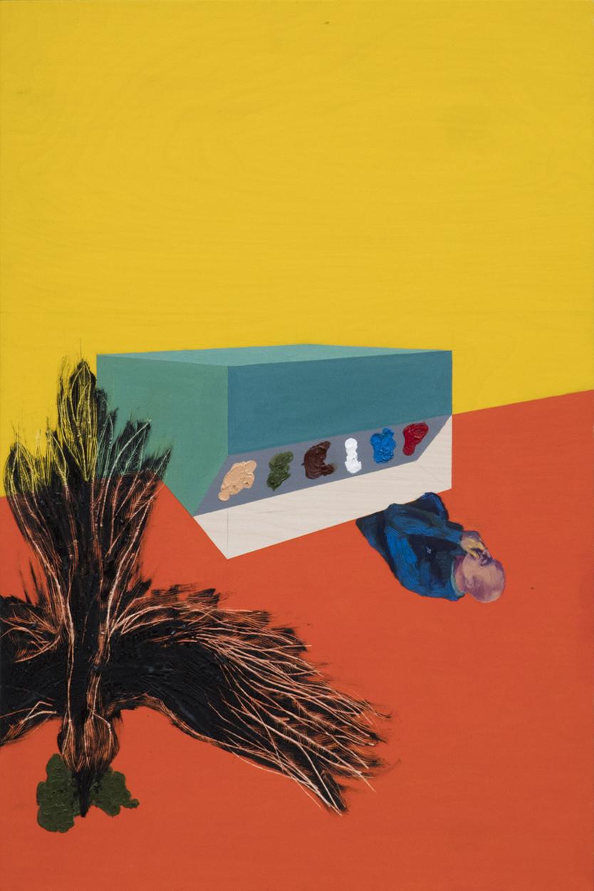 Leonora Prugger | Eisdiele im 9. Stock, 2017, 90x60 cm, Ölfarbe auf Holz