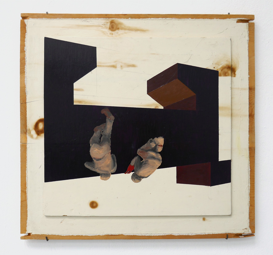 Leonora Prugger | Kreaturen, 2017, 50x50cm, Ölfarbe