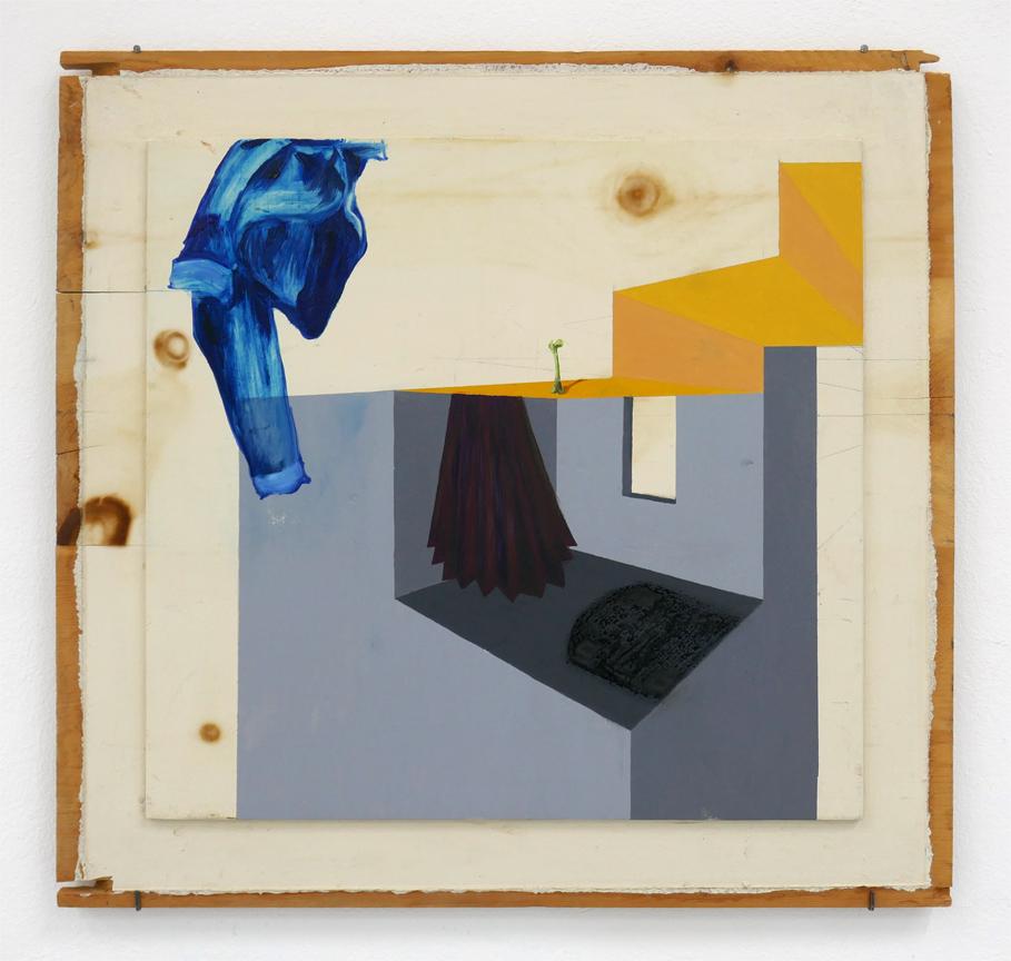 Leonora Prugger | was der Mensch zurücklässt, 2017, 50x50cm, Ölfarbe auf Holz