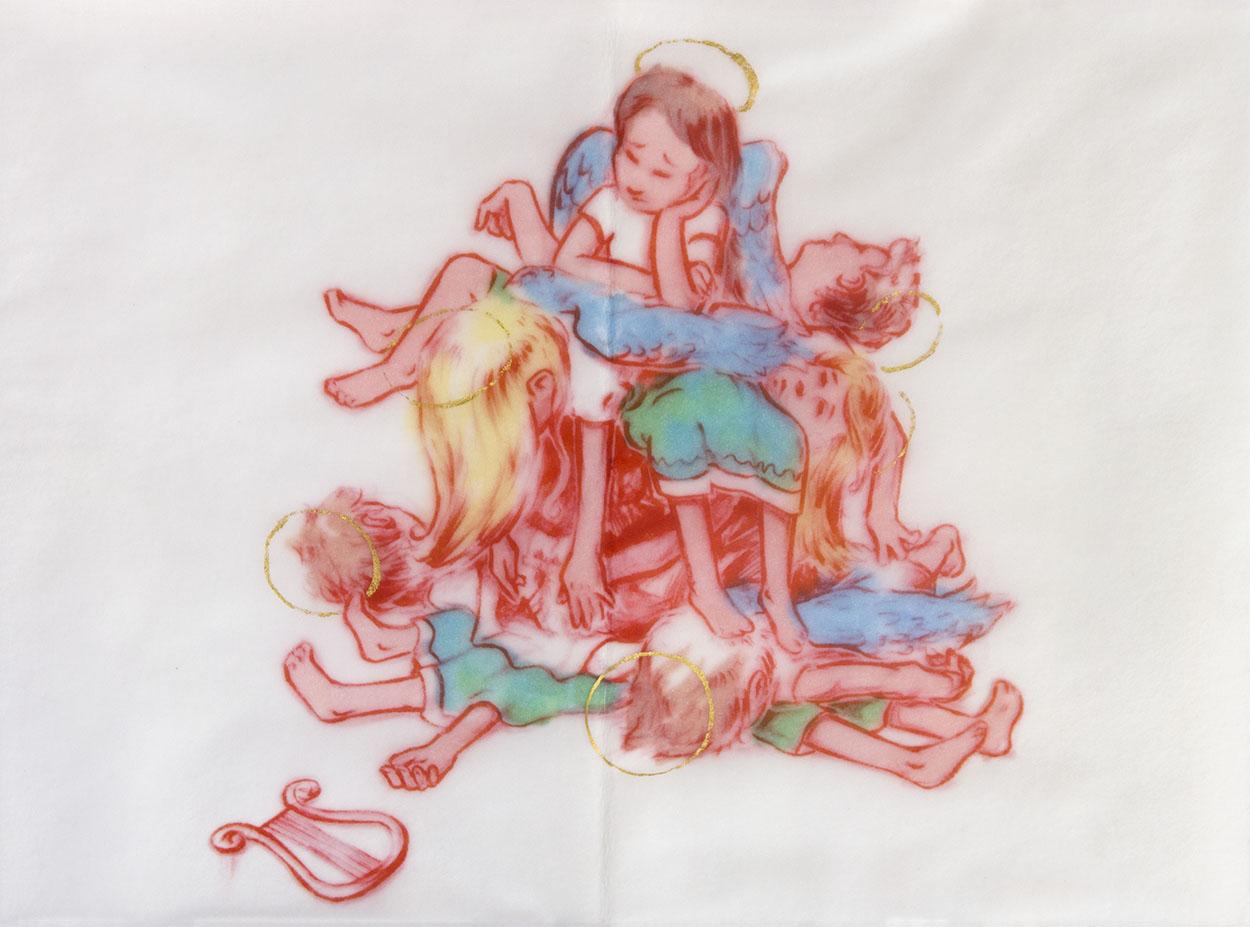 Ohne Titel, 2017, 17 x 23 cm, Inkjet und Acryl auf Transparentpapier
