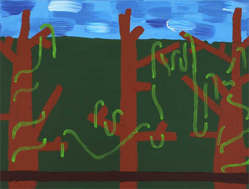Leonie Elpelt | Abstraktionen I, 2017 80x60 cm, Acryl auf Leinwand