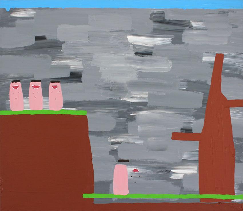 Leonie Elpelt | Abstraktionen III, 2017 80x70 cm, Acryl auf Leinwand