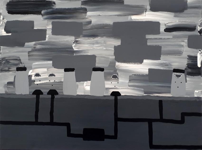 Leonie Elpelt | o.T., 2017 80x60 cm, Acryl auf Leinwand