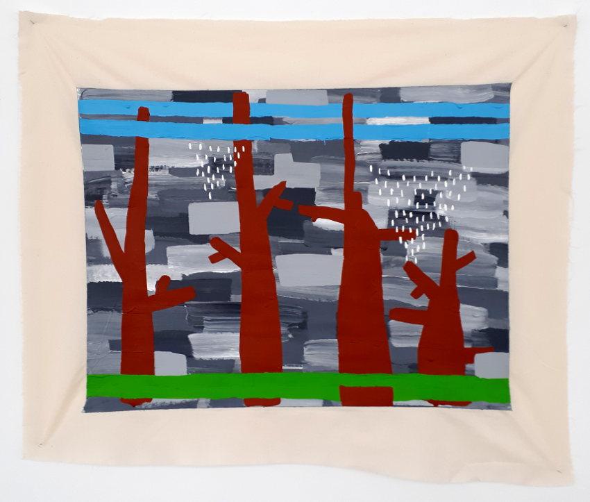 Leonie Elpelt | o.T. (Studie), 2017 104x86 cm, Acryl auf Leinwandstoff
