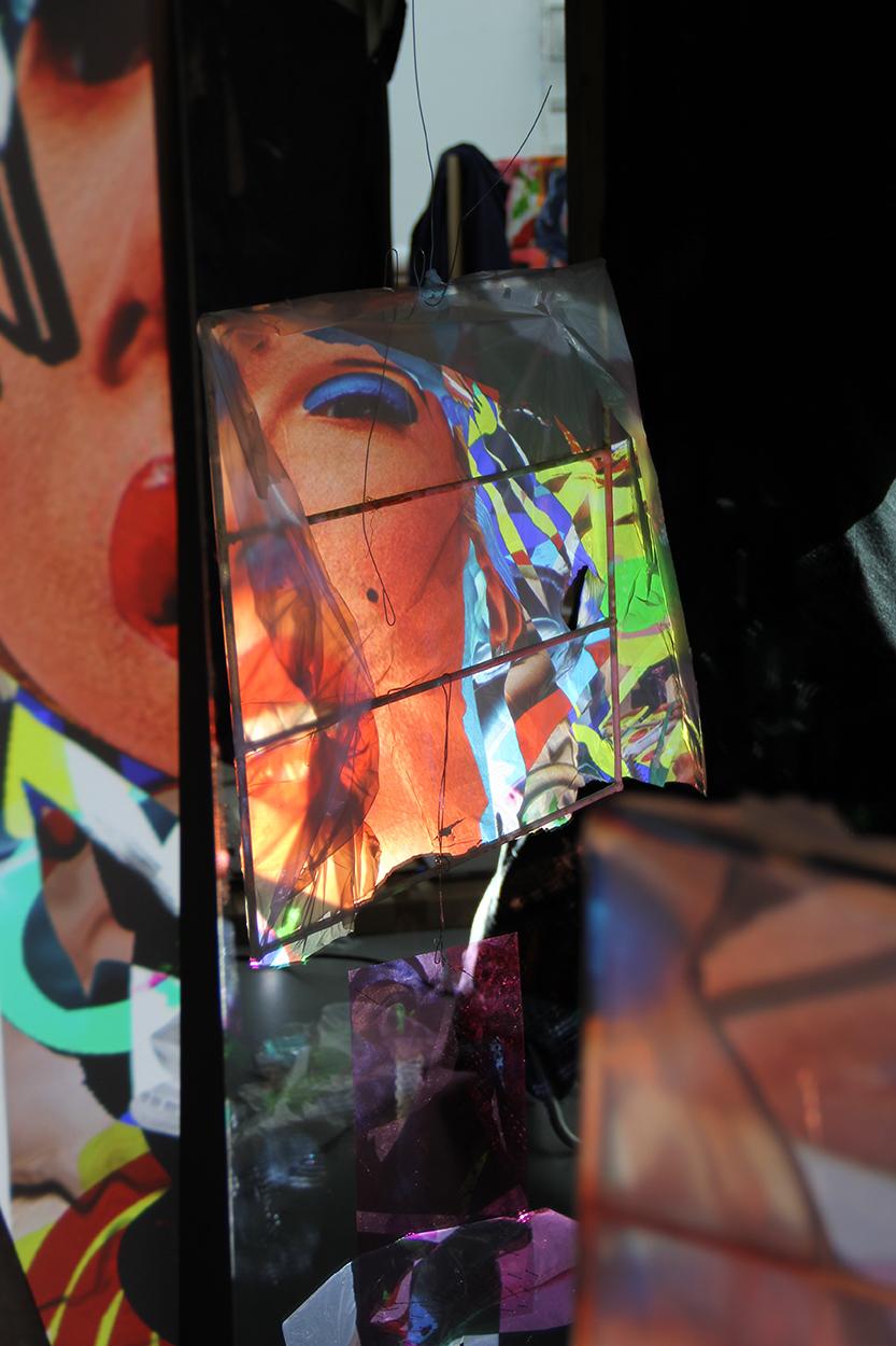 Installationsansicht, 2019, Projektion und digitale Malerei