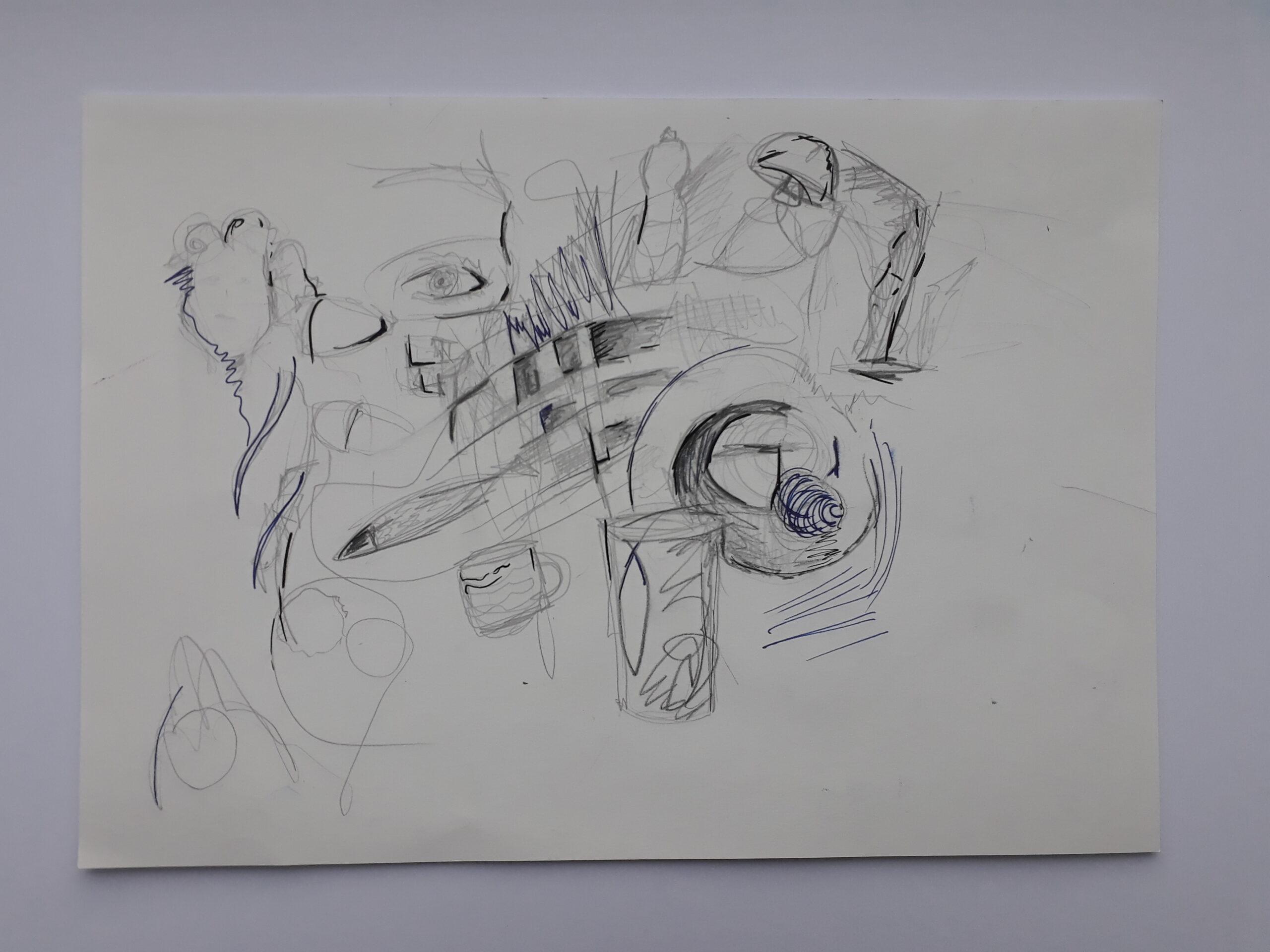 (Ohne Titel), 2020, Bleistift und Fineliner auf Papier, 30x21cm
