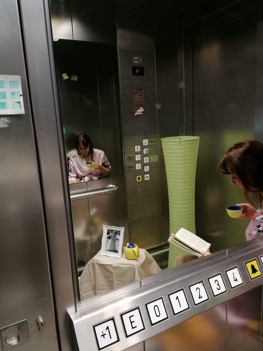 Der Aufzug, 2019, Installation